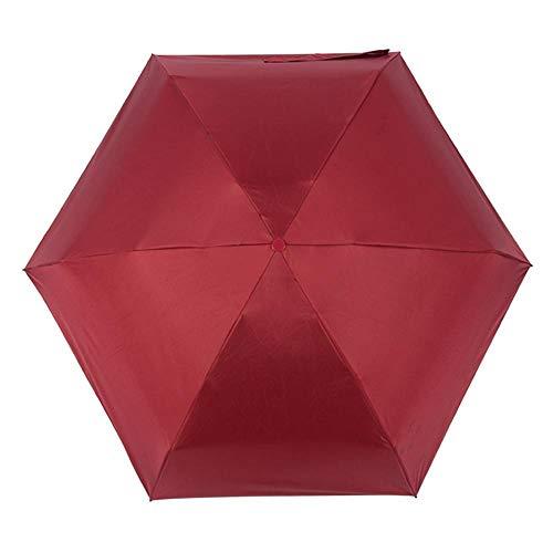PZXY Paraguas Plegable Pequeñas Creativas Sol Negro Mujeres Gel Paraguas cápsula sombrilla