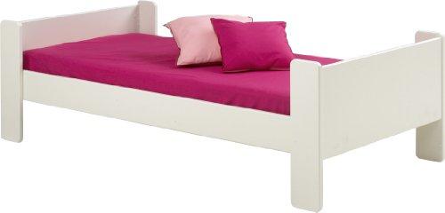 *Steens Group, Kinderbett/Einzelbett, For Kids 90x200cm Liegefläche, MDF weiß*
