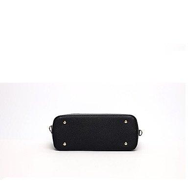 Damenmode bestickt PU Leder Schulter Messenger Bags/Handtasche Tote Black