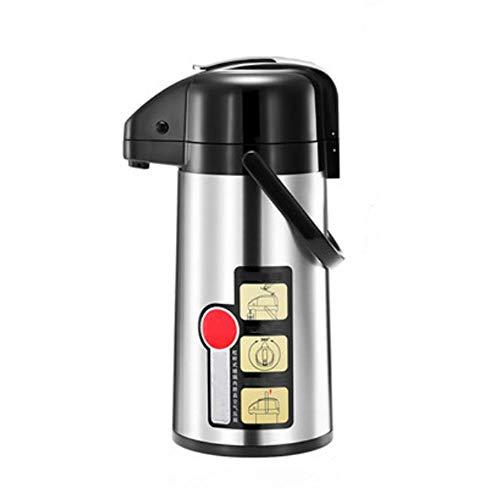 LZC Thermo-Kaffee-Airpot , 1.9L Tragbare pneumatische Wärmflaschenpresse Thermosflasche aus rostfreiem Stahl , Ideal für Tee, Kaffee, Wasser, heiße und kalte Milch