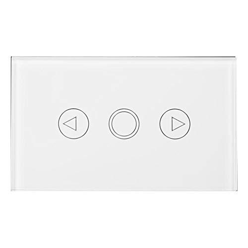 Zerodis Dimmerabdeckung, Dimmer berühren Schalter Dimmer Licht Treiber für die-Wand des LED Lampe, AC110-240V Touch Control Panel Wand-Control Panel LED Interrupto weiß -