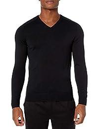 Marca Amazon - Peak Velocity Suéter Merino Con Cuello En V - pullover-sweaters Hombre