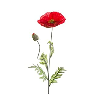 artplants.de Amapola, Rojo, 70cm – Papaver Artificial – Flor Decorativa