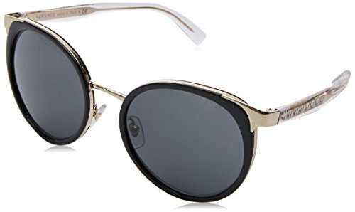Versace Damen 0VE2185 125287 54 Sonnenbrille, Schwarz (Black/Grey),