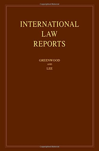 International Law Reports : Volume 176