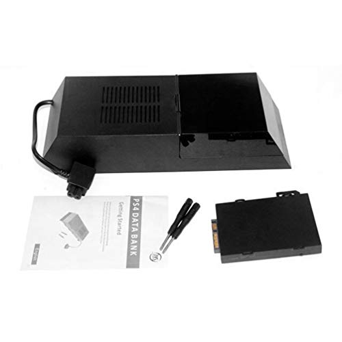 TAOHOU PS4-Festplattenbox Externes SATA-Festplattengehäuse Unterstützung für 3,5-Zoll-Festplatten schwarz