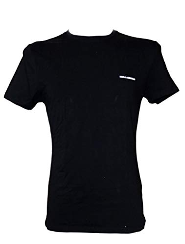 Karl Lagerfeld Schlichtes Shirt Herren T-Shirt Slim Fit Schwarz, Größenauswahl:L