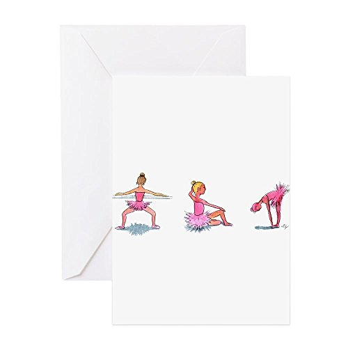 CafePress–Little Ballerinas–Grußkarte, Note Karte, Geburtstagskarte, innen blanko, glänzend