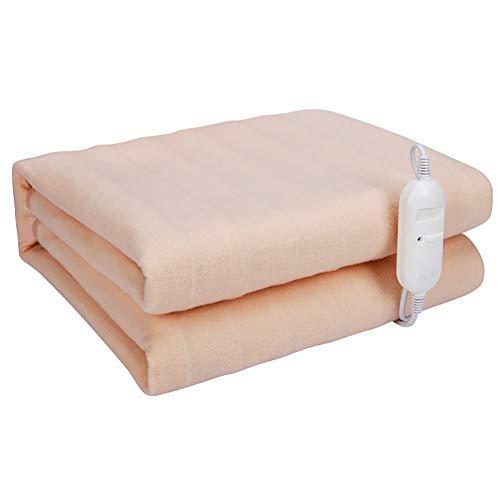 Heizdecke Einzelbett 70x150cm (28x59inch), Einhebelschaltung, Gebaut in der Überhitzungsschutz-System, Schnell Erwärmen Zeit, Sicher for Alle Nachtgebrauch, Beige