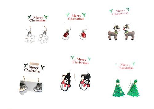 1032 Ohrringe mit Weihnachtsmotiven