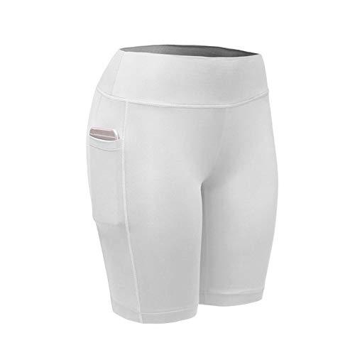 Mitlfuny Frauen Damen Hose Mode Hot Pants,Frauen Hohe Taille Yogahosen Taschen Bauch Workout Laufsport Shorts Hosen - Elastische Taille Stretch-knit Pants