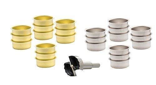 Tealight Holder Black 40mm Flat Tealight Cup for Standard Tea Light Candles