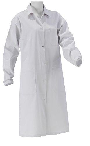 Neue Kittel (KOKOTT Laborkittel Damen und Herren, Medizin, weiß, 100% Baumwolle mit Druckknöpfen, geeignet für Studium/Praktika/Arbeit, aus eigener Produktion (46, Damen))