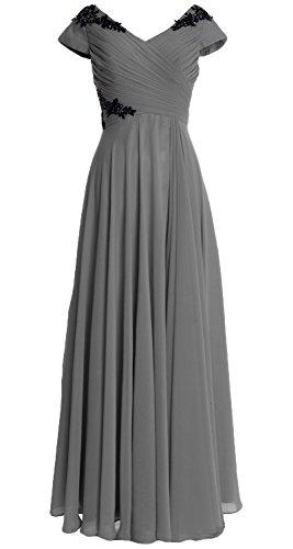 MACloth - Robe - Trapèze - Femme Gris - Gris