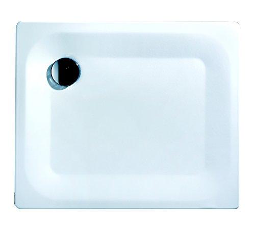 Kaldewei 01413 7 Stahl-Brausewanne Excellence, weiß, extra flach, 90 x 75 x 2,5 cm