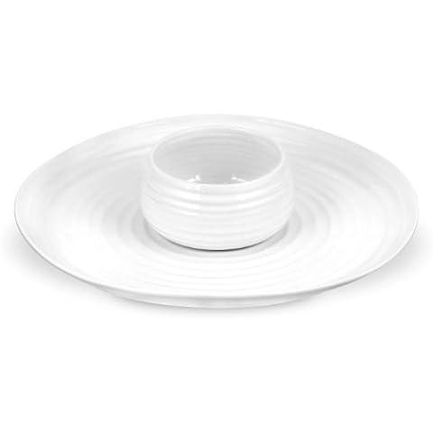Sophie Conran–blanco–plato para salsas y bandeja
