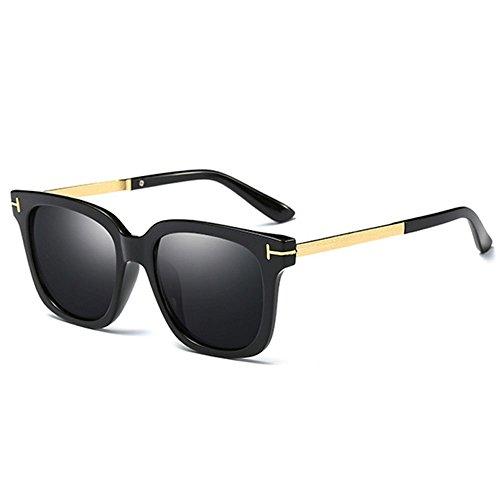 RLJJSH Sonnenbrille Uv400 Sonnenblende Mode Pc Objektiv Retro Fahr Sonnenbrille Sonnenbrille (Farbe : Schwarz)