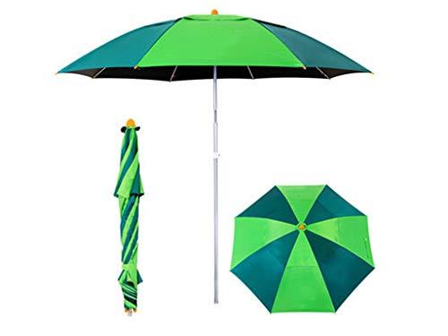 OAKNO Tragbarer leichter Garten-Sonnenschirm, der Sonnenschutz-Strand-Patio-im Freien kippende Kippschirm-Überdachung, Wärmeisolierung, Anti-UV-Funktion, Fischen wesentlich faltet