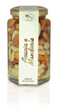 Apicoltura Cazzola Italy - Almonds and Acacia Honey - Jar of 290 g