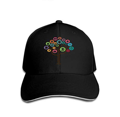 Hip Hop Baseball Cap Hat for Boys Girls Education Tree Concept Learning Education Icons Tree Education Tree Icons Stock Image Small Fan-trucker Hut