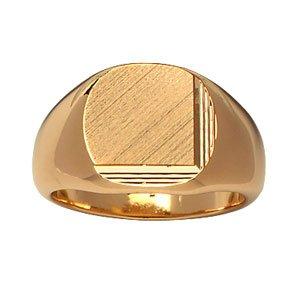 1001 Bijoux - Chevalière plaqué or grand plateau ovale diamanté - tour de doigt 69