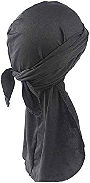 1PCS Silky Durag Headwraps Extra Long Tail Wide Straps 360 Waves for Men Women