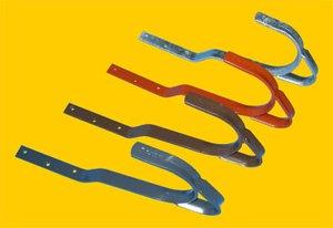 Dachhaken aus Stahl für Ziegel- und Pfannenabdeckung (2 Stück) (verzinkt)
