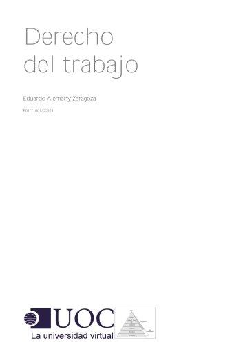 Derecho del trabajo por Eduardo Alemany Zaragoza