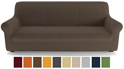 Petti artigiani italiani - copridivano, marrone, copridivano 3 posti, copridivano elasticizzato, copridivano marrone, tessuto lineare, 100% made in italy