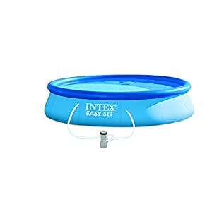 Intex 28158 Easy Set Piscina Tonda Fuoriterra Gonfiabile con Pompa Filtro, Blu, 457 cm 7 spesavip