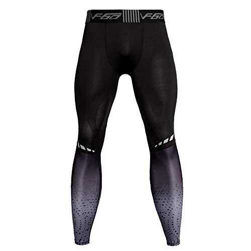 TEBAISE Herren Radsport Lang Fahrradhose 3D gepolsterte Legging Radsport Hosen Radsport Shorts & Radsport Capris & Radsport Lange Hosen(Grau,2XL)