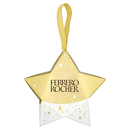 Ferrero Rocher Hangable Star Chocolates, 3 pieces, 27.5 g (Pack of 12)