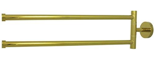 Antike Messing Doppel-arm (Doppel Handtuchstange Mit Zwei Schwenkbaren Armen Je 32cm Wandmontage In Antik Gold Landhausstil)