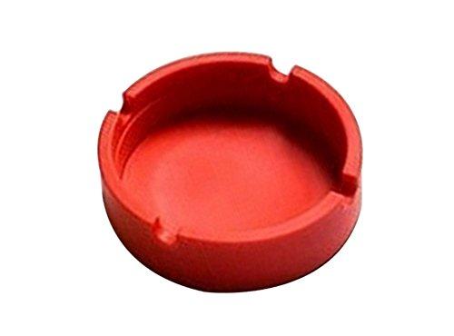 Emorias 1 Pcs Cenicero de Silicona Durable Bar Fiesta Coche Papelera Almacenamiento Portatil Gadgets para el Hogar - Rojo