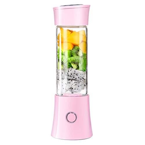 Calvinbi Haushalt 480ML 6-Blatt Tragbarer Entsafter Mixer Fruchtsaftpresse Smoothie Maschine USD Wird aufgeladen Saftschale Reisebecher