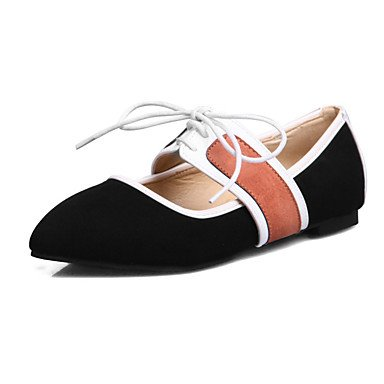 Confortevole ed elegante piatto scarpe donna Appartamenti Primavera Estate Autunno Inverno Mary Jane Comfort vello Cuoi Office & Carriera Party & abito da sera tacco piatto Lace-up Black