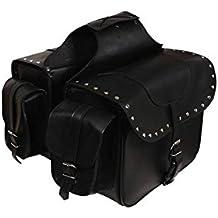 3b9560e39fd Alforjas moto custom de cuero sintetico. Color negro. SD-9194