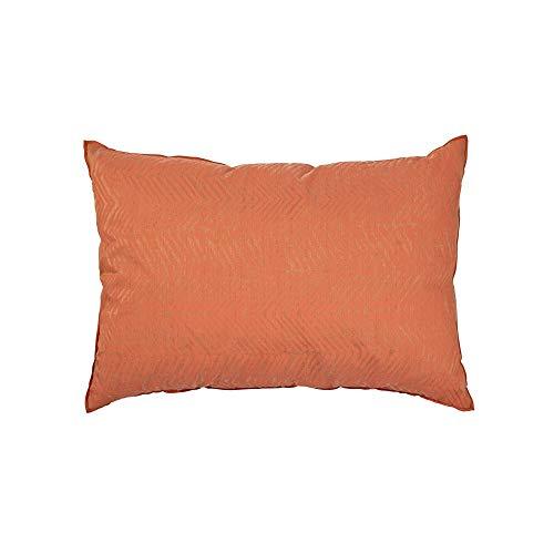 Housse de Coussin rectangulaire Orange Motifs Chevrons Broste