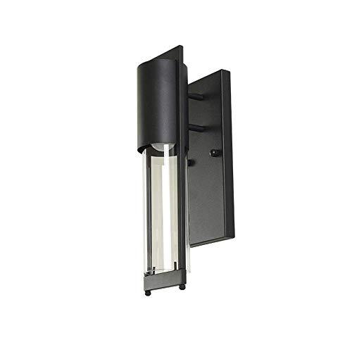 Klar Abgeschrägten Glas Licht (XGGYO Außenwandlaternen, Metallwandleuchte E27 Wandleuchte Innenhof Korridor Balkon Wandleuchte Wasserdicht)
