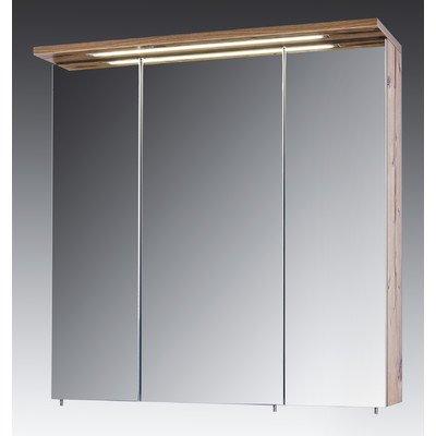 Schildmeyer 127263 Spiegelschrank, 70,5 x 73 x 24 cm, silberfichte