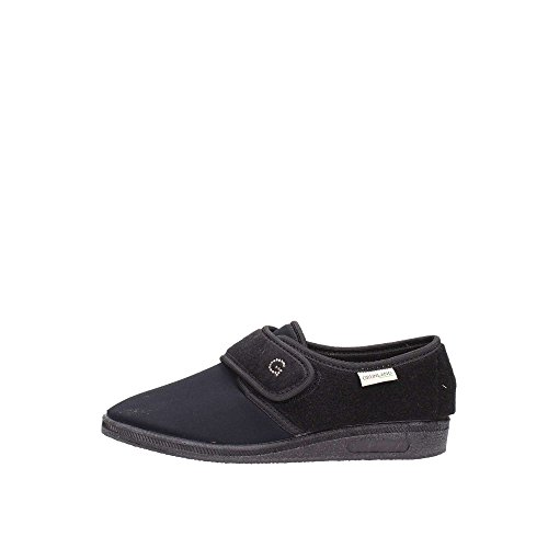 Grunland 47KAMP PA0004 Pantofola Donna Tessuto Nero Nero 37