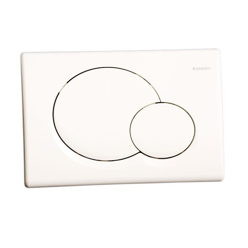 Geberit 470010430 Samba Bedienplatte für Unterputz-Spülkasten, weiß