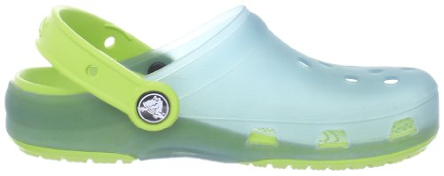 Crocs Crocs Chameleons Translucent Clog Kids, Sabots mixte enfant Bleu (Light Blue/Volt Green)