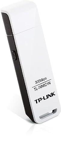 TP-Link TL-WN821N WLAN USB Adapter (bis zu 300 Mbit/s, WPS,unterstützt Windows 2000, XP, Vista und 7, kompatibel mit Raspberry Pi) weiß [Amazon frustfreie Verpackung], Version