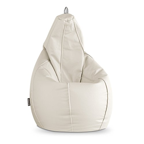 HAPPERS Puff Pera Polipiel Outdoor Blanco XXL