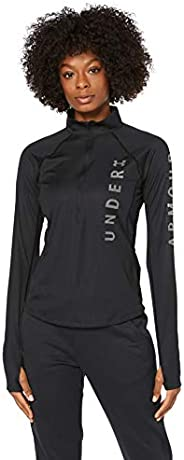 Under Armour Women's UA Speed Stride Split Wordmark Half Zip T-S