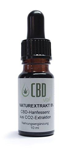 *CBD-Vital Naturextrakt 5 % – 10 ml aus CO2-Extraktion*