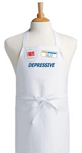Depressive I Hate Versicherungen Lustige Schürze & Halloween-Kostüm (Versicherung Kostüm)