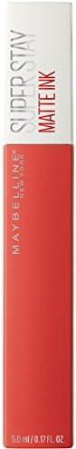 Maybelline New York Tinta Labbra SuperStay Matte Ink, Rossetto Matte Liquido a Lunga Tenuta, Heroine (25), 5 m