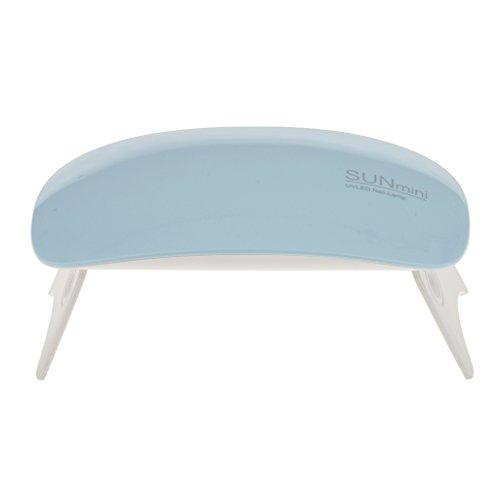 Segolike Mini Foldable UV LED Nail Lamp Gel Acrylic Polish Curing Machine Nail Art Dryer Home Salon Nail Light with 45sec 60sec Timer - blue